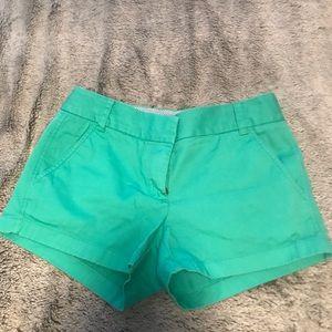 Sea foam chino shorts